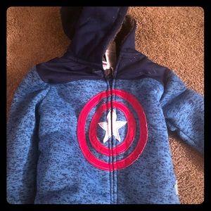 Toddler captain American warm hoodie